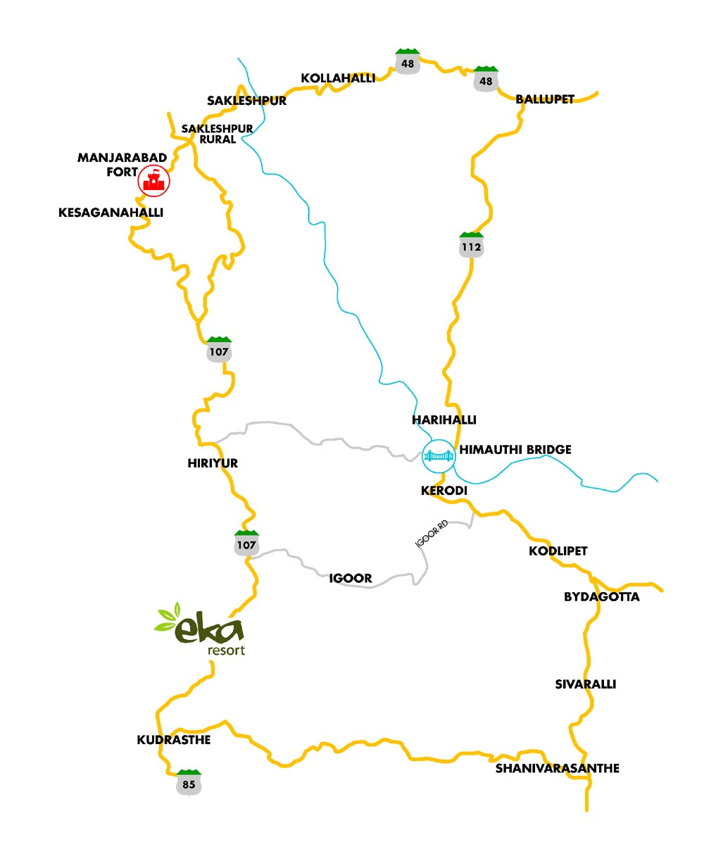 Sakleshpur Eka Resorts Roadmap